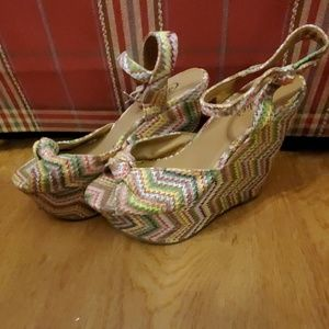 Candie's multicolored wedges